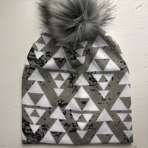 Aztec Hat with detachable Pom Pom - BABY